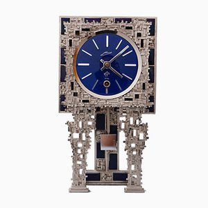 Vintage Brutalist Table Clock from Schmid