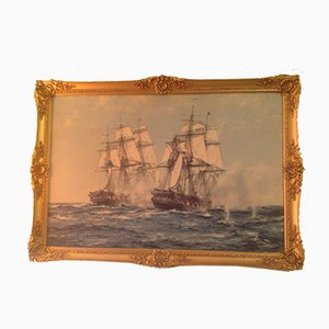 Mid-Century Nautical Painting by Montague Dawson