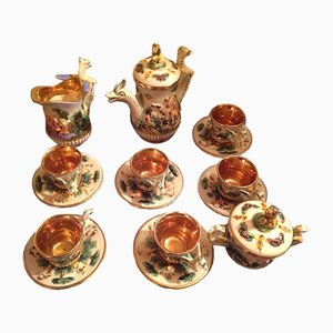 Espresso Coffee Service Set from Capodimonte, 1953, Set of 15