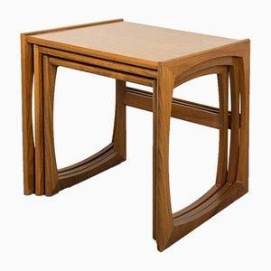 Tables Gigognes en Teck de G plan, années 60, Set de 3