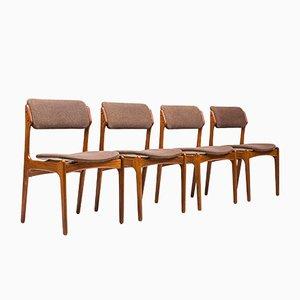Chaises de Salle à Manger par Erik Buch pour Oddense Maskinsnedkeri / O. D. Møbler, années 60, Set de 4