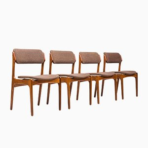 Dining Chairs by Erik Buch for Oddense Maskinsnedkeri / O.D. Møbler, 1960s, Set of 4