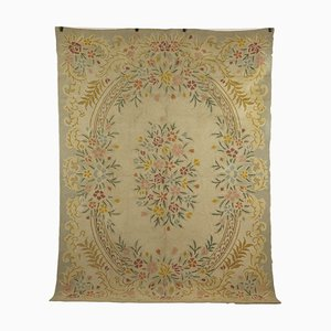 Vintage Handmade Aobusson Carpet