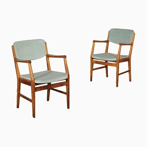 Italian Side Chairs, 1950s, Set of 2