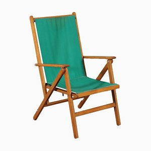 Beech Deckchair from Reguitti, 1950s