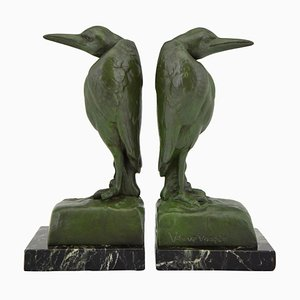 Art Deco Bookends from Foundry Brig France, 1920s, Set of 2