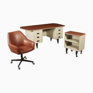 Set da scrivania, Italia, anni '60, set di 3