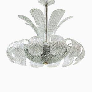 Venetian Style Chandelier by Fritz Kurz for Orrefors, 1940s