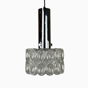 Glass and Chrome Bubble Ceiling Lamp from Limburg, 1960s