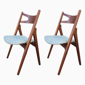 Esszimmerstühle von Hans J. Wegner für Carl Hansen & Søn, 1950er, 2er Set
