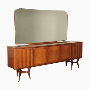 Italian Cupboard with Mirror, 1950s