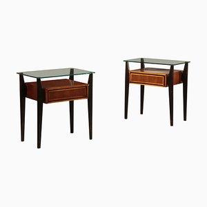 Tables de Chevet Vintage, années 50, Set de 2