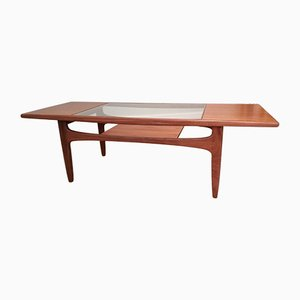 Teak and Glass Coffee Table by Victor Wilkins for G-Plan, 1970s