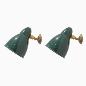 Enamel Wall Lights, 1950s, Set of 2