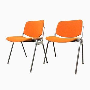 106 DSC Schreibtischstühle von Giancarlo Piretti für Castelli / Anonima Castelli, 1960er, 2er Set