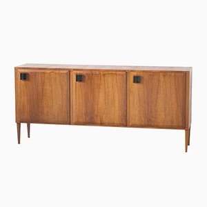 Italian Teak and Brass Sideboard, 1950s