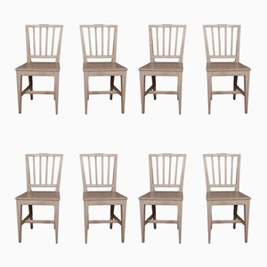 Antique Swedish Dining Chairs, Set of 8