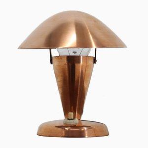 Petite Lampe de Bureau Bauhaus en Cuivre, années 30