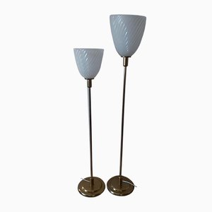 French Vintage Floor Lamps, Set of 2