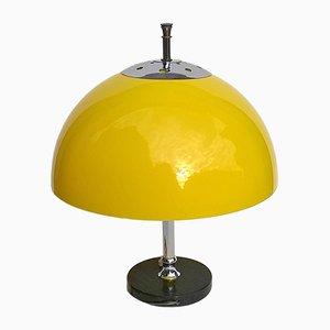 Gelbe italienische Tischlampe, 1960er