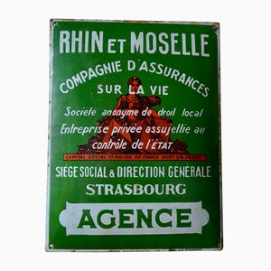 Enamel Sign from Émaillerie de Strasbourg, 1920s