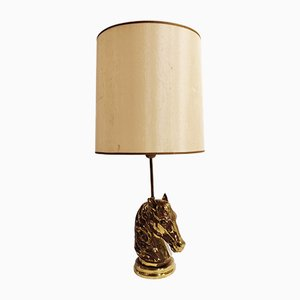 Bronze Horse Head Table Lamp, 1970s