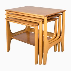 Tavolini ad incastro in teak, anni '70