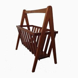 Danish Teak Magazine Rack, 1960s