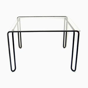 Metal and Glass Side Table, 1960s