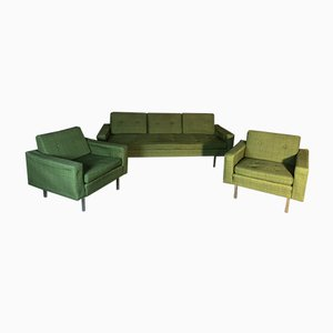 Mid-Century Salon Sofa and Armchairs by Florence Knoll Bassett, Set of 3