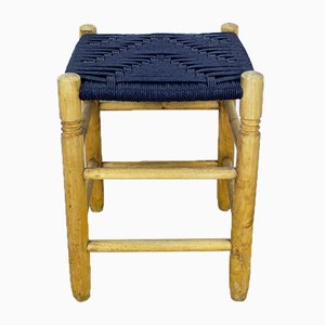 Danish Wood and Rope Stool, 1950s