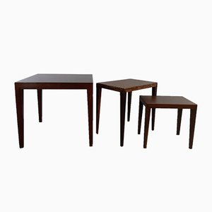 Rosewood Side Tables by Severin Hansen for Haslev Møbelsnedkeri, 1960s