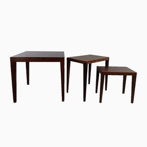 Tables d'Appoint en Palissandre par Severin Hansen pour Haslev Møbelsnedkeri, 1960s