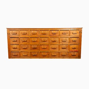 Mid-Century Industrial Bank of Drawers