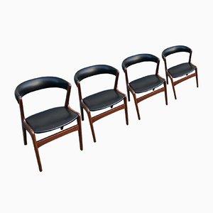Dänische Esszimmerstühle aus Teak von Kai Kristiansen für Schou Andersen, 1960er, 4er Set
