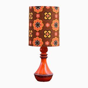 Lampe de Bureau en Céramique et Tissu, 1960s