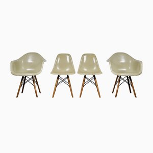 Vintage Dining Chairs by Charles & Ray Eames for Herman Miller, Set of 4
