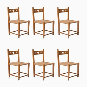 Vintage Side Chairs by Axel Einar Hjorth, Set of 6
