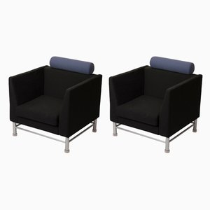 Armchairs by Ettore Sottsass for Knoll Inc. / Knoll International, 1983, Set of 2