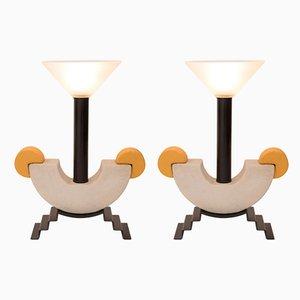 Vintage Tischlampen von Michele De Lucchi, 2er Set