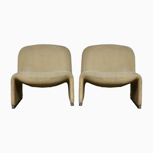 Vintage Alky Lounge Chairs by Giancarlo Piretti for Castelli/Anonima Castelli, Set of 2