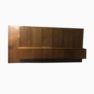 Mid-Century Rosewood Wall Unit by Louis Paolozzi