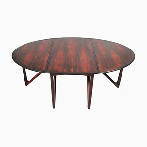 Mid-Century Rosewood Drop Leaf Dining Table by Kurt Østervig for Jason Møbler