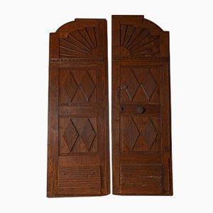 Porte antiche in legno, set di 2
