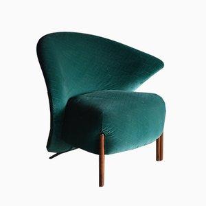 Model Calla Green Lounge Chair by Mauro Lipparini for Saporiti Italia, 1980s