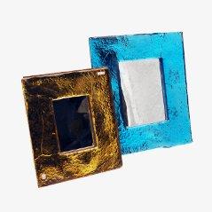 Muranoglas Rahmen von Livio Seguso, 1970er, 2er Set