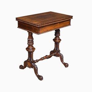Mesa de juegos antigua de palisandro de Gillows