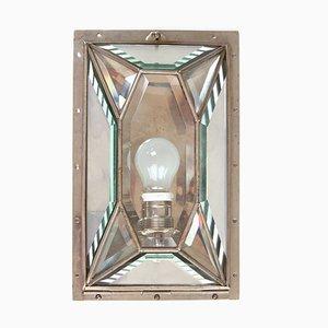 Antike vernickelte Wandlampe
