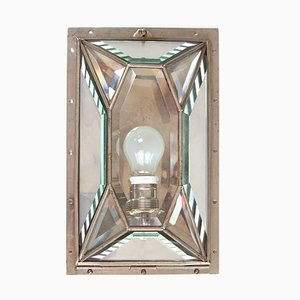 Antique Nickel-Plated Wall Light