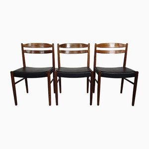 Swedish Rosewood Side Chairs by Carl Ekström for Albin Johansson & Söner, 1960s, Set of 3